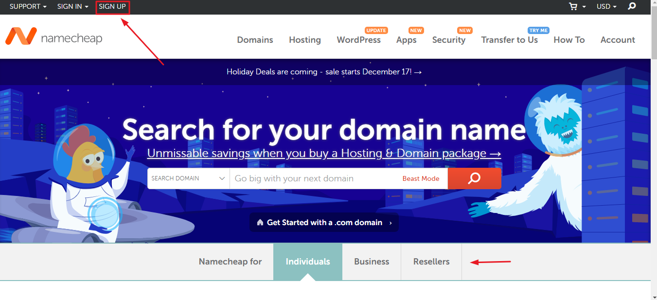 Namecheap come acquistare un dominio